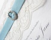 Vintage Lace Wedding Invitation - Victoria Collection -  SAMPLE