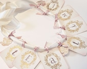 CUSTOM Happy Birthday Banner -Gold- Vintage Appearance (customization available)