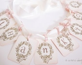 Wedding Thank you Banner for showers/weddings - Gold- Vintage Appearance (customization available)