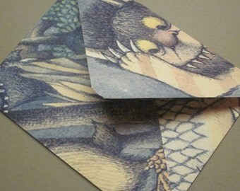 Where The Wild Things Are Handmade Envelopes - set of 10