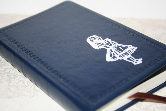 Alice From Alice in Wonderland Altered Journal/Notebook/Diary - Blue Leather Appearance