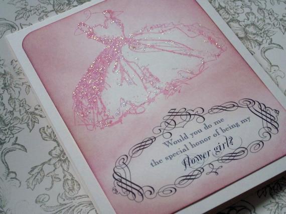 Flower girl/bridesmaid card