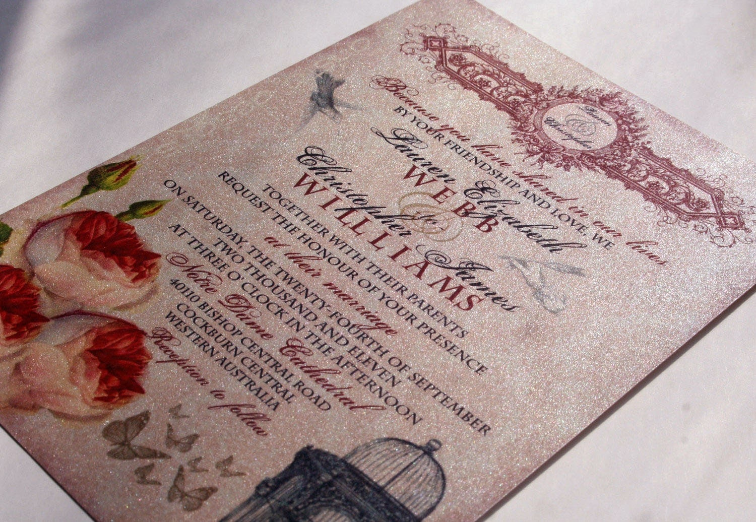 Baroque Wedding Invitations: Whimsical French Baroque Vintage Wedding Invitation And RSVP