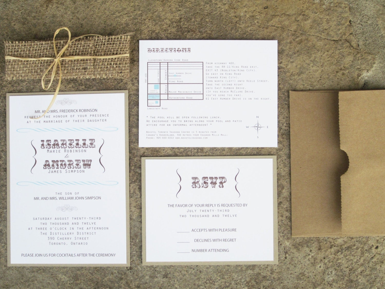 Wedding Invitations With Burlap: Modern Rustic Collection Rustic Burlap Wedding By