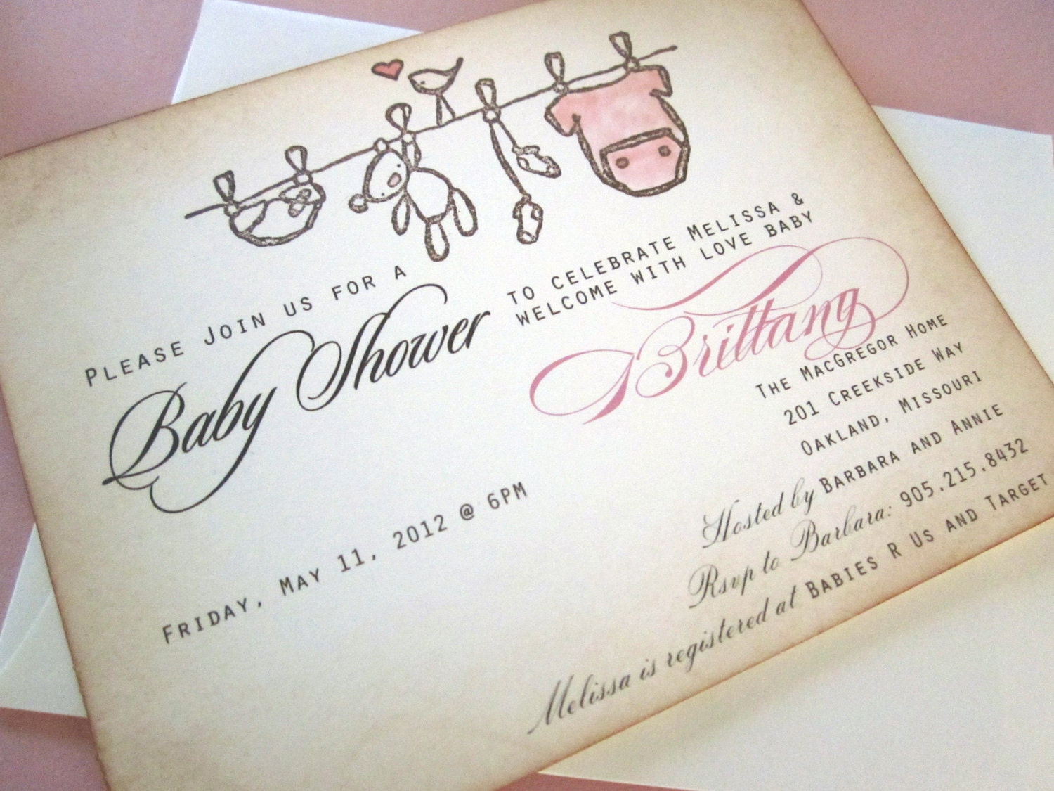 baby shower invitation as seen on disney baby by anistadesigns