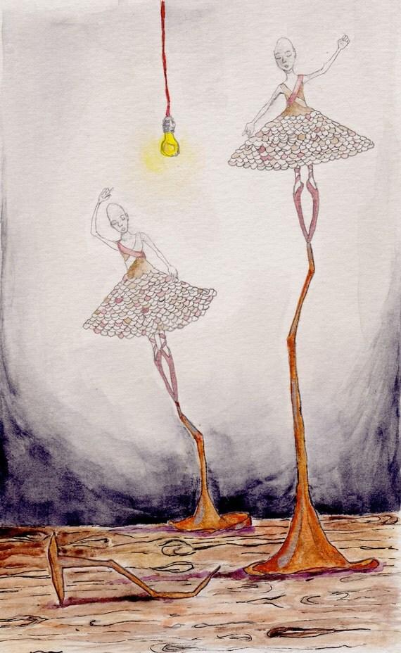 Le Tetenus - 8x10 digital illustration print