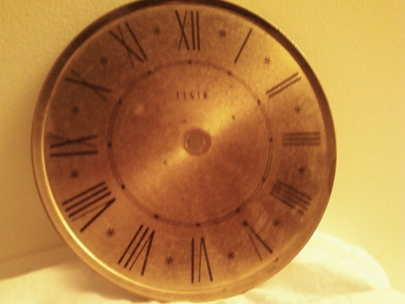 Vintage Goldtone Roman Numeral Clock Face  On Hold for Erika thru April 21 Thank You for browsing Izzy Reds Boutiques
