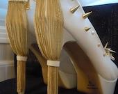 High Heel Platform Spiked Women Shoes White  size 10  Summer Collection...A SpikesByG Design
