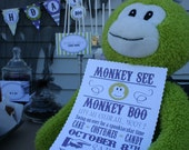 "PRINTABLE (FULL COLLECTION) - ""Monkey See, Monkey Boo"" Collection"