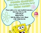 "PRINTABLE (5""x7"" Invite) - SpongeBob ""Best Day Ever"" Collection"