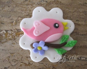 EDIBLE (Fondant Toppers) - Birdies on a Branch