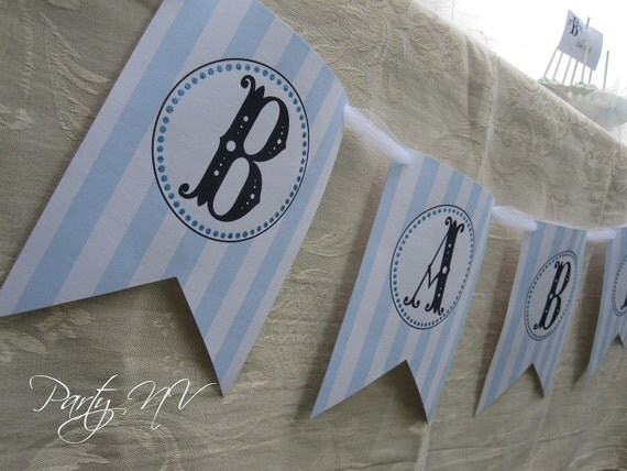 "PRINTABLE (""BABY"" Banner) - B is for BABY Collection"