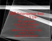 100 - A7 size - Crystal Clear Bags - Protective Closure - 1.6 mil Polypropylene BOPP - cello bags
