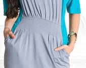 Beautiful elegant dress with drapery