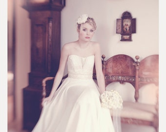 Greta 1930's inspired bridal Gown - As featured in Etsy Europe Spring lookbook.