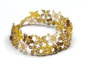 Fall Flowers Swarovski Crystal Bracelet