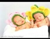 Newborn Flower Petal Hats