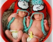 Custom Crochet  Thing 1 & Thing 2 hats