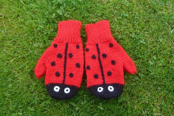 Ladybird / Ladybug Mittens - Made to order