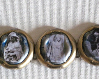 Graven Images: Decoupage Necklace Angels and Statues