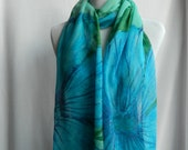 "Chiffon scarf 22"" X 90"" silk"