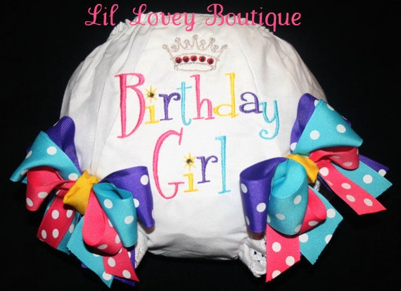 PRINCESS BIRTHDAY GIRL Diaper Cover For Toddler or Baby Girl
