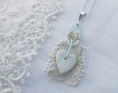 Old New Borrowed Blue Bride Pendant Charm (D)
