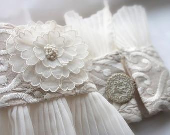 Bridal Cuffs 1920's Rose