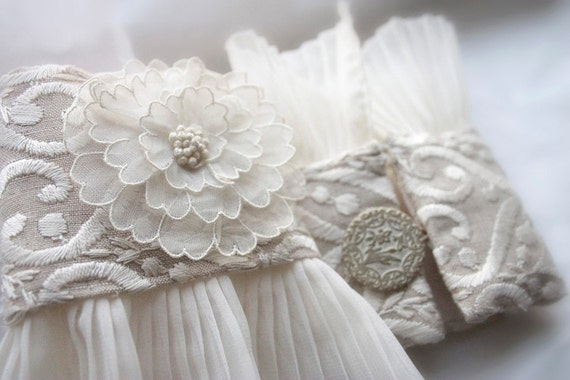 Bridal Cuffs 1920's Rose