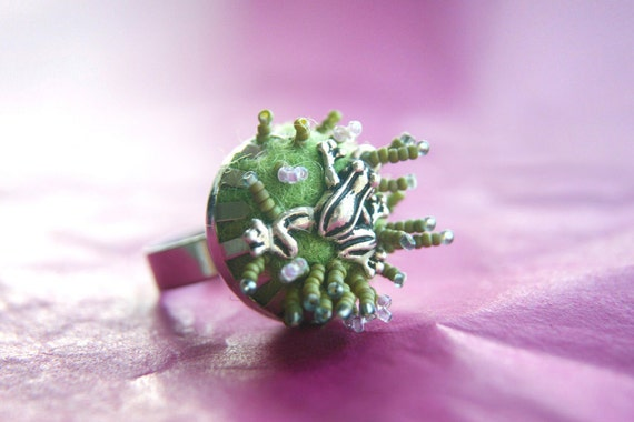 Cute Frog Adjustable Ring