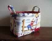 Fabric storage basket organizer bin - Lil Cowboy