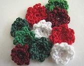 Tiny Crochet Flowers - Christmas Shades in a Tiny Ruffle Style - 10