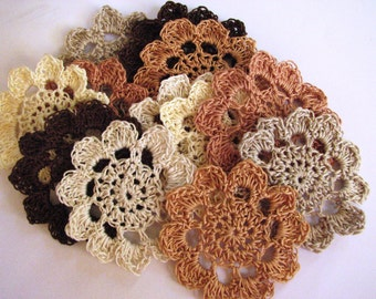 Crochet Flowers - Neutral Shades - 12