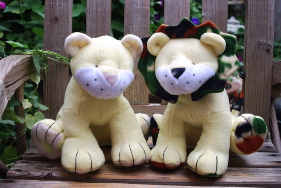 Plush Stuffed Lion/Lioness Custom Made to Order Jungle Cat  - You design - tons of choices available