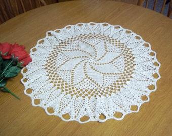 Pinwheel Doily in White
