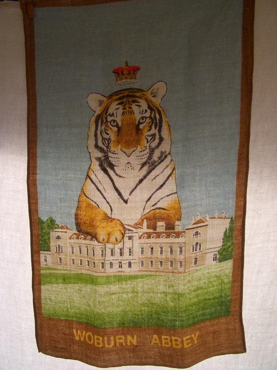Vintage Towel Linen Souvenir Towel Woburn Abbey