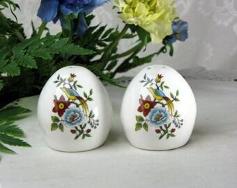 Vintage Fine Bone China Egg Shape Salt and Pepper Shakers