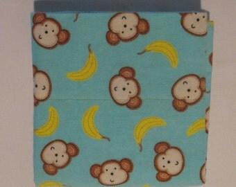 Flannel Pillowcase,  MONKEY BANANZA