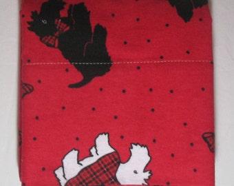 Flannel Pillowcase TARTAN SCOTTIE