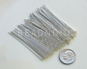 50 Sterling Silver Headpins 22 Gauge 2 Inch