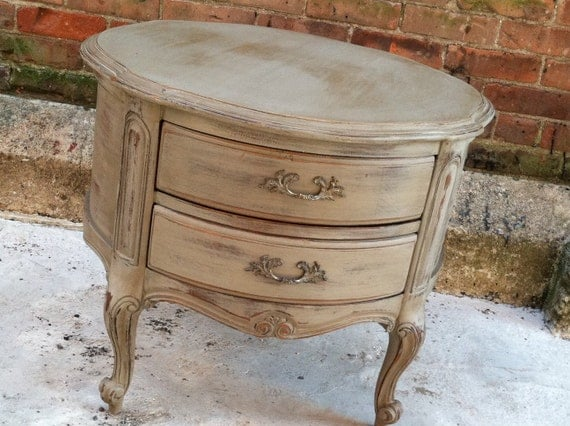 Shabby Chic Painted End Tables French Grey Painted End Table