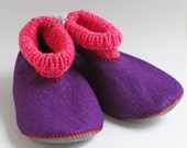 Wool felt booties 4-5 years