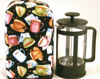French Press Cozy - Jumpin Java Coffee Cups - Standard 8 Cup Coffee / Tea Press, Free Shipping - USA, Ships Worldwide
