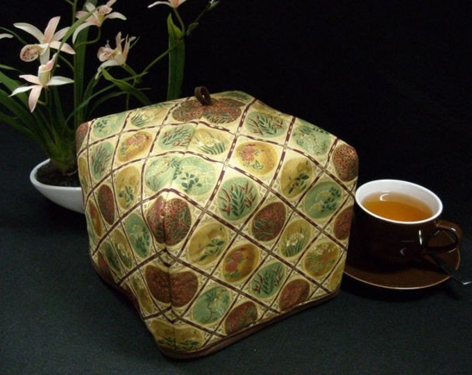 Featured listing image: Tea Cozy - Imperial Gold (Standard - 4 to 8 Cup Teapots), Free Shipping - USA, Ships Worldwide