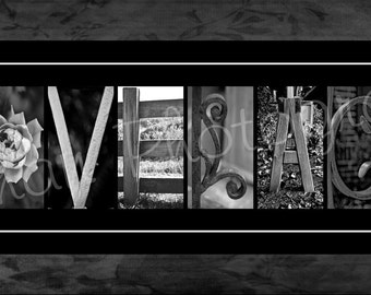 Personalized Surname Photo Alphabet Art -  Create your name here