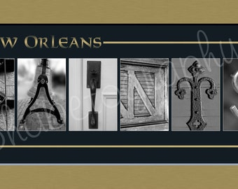 New Orleans Saints Football Alphabet Photo Collage