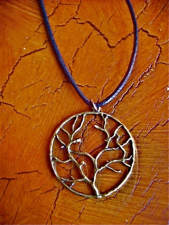 Cast Bronze Tree Of Life Pendant