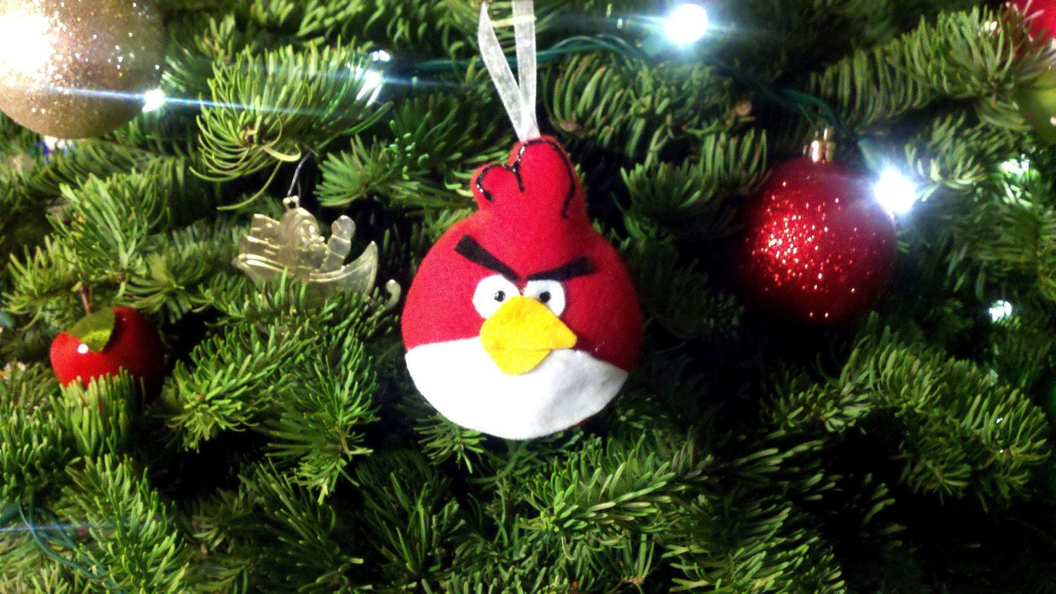 Christmas Decorations Red Birds : Angry birds christmas ornaments red bird