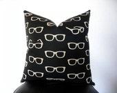 """Echino Retro pillow cover in black- 19""""x19"""""""