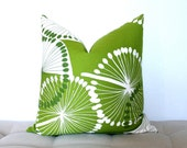 Green Dandelion 19 x 19 inch pillow cover
